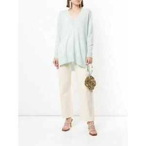 New Nwt $575 Zimmerman v neck sweater seafood cash